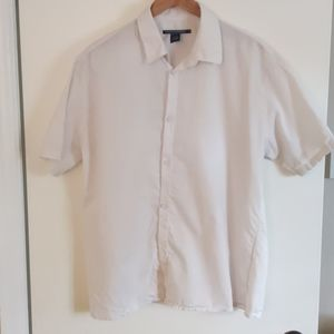 French connection short sleeve shirt size L